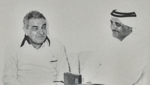 الاستاذ فضل النقيب مع الشاعر عبدالله البردوني
