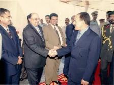 مع الرئيس السابق علي عبدالله صالح