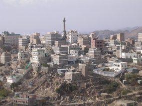 منظر للقدمة مع المسجد