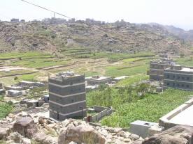 جزء من قرية ضبوعه مع وادي القاع الموسطه