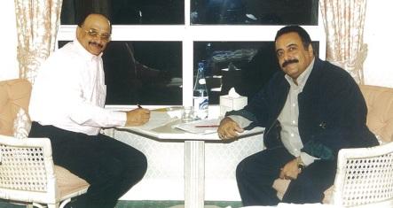 جلسة صحفية مع سالم صالح محمد